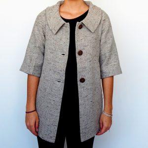 Abrigo Lana y Algodón Wool and Cotton Coat Quito Galeria Ecuador